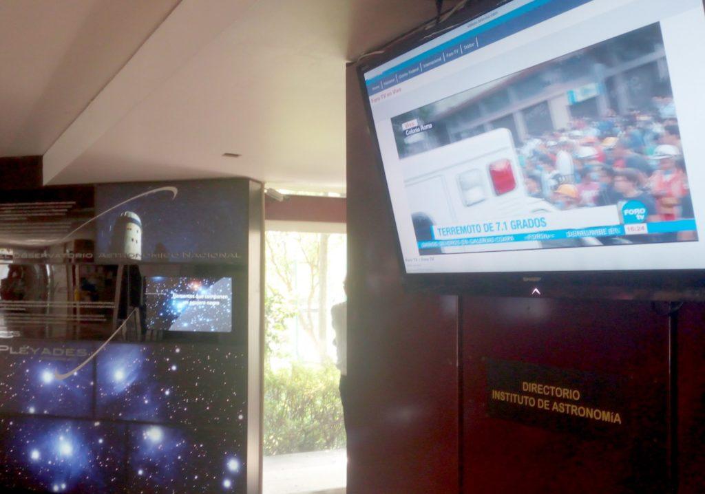 Sismo Astronomía UNAM
